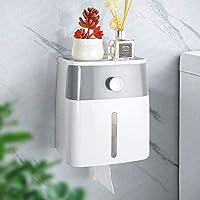 YOHOM Toilet Paper Roll Holder Adhesive Wall Mount Waterproof Toilet Tissue Storage Box for Bathroom Paper Towel...