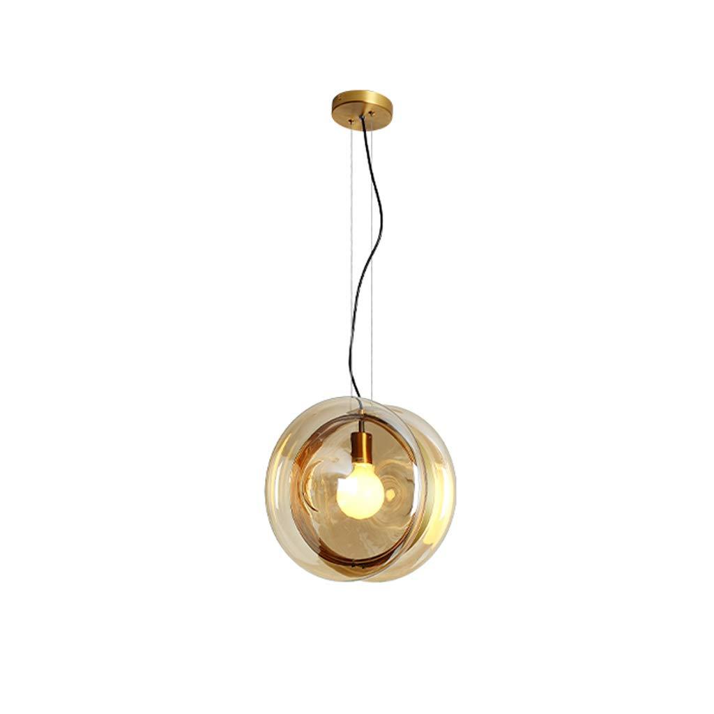 ガラス球シャンデリアの寝室居間勾配ガラスのランプシンプルでモダンなバーレストランの照明 (色 : ゴールド) B07H1TSDDC ゴールド