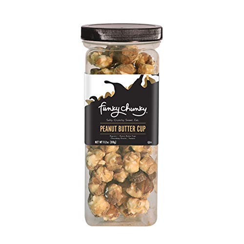 Funky Chunky - Peanut Butter Cup - Flavored Popcorn - 11.2oz. Canister