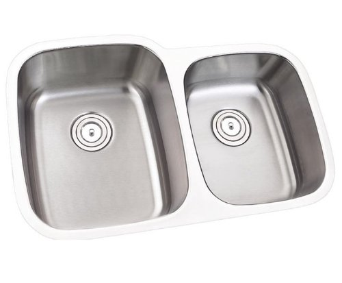 32 Inch Stainless Steel Undermount 60 40 Double Bowl Kitchen Sink – 16 Gauge