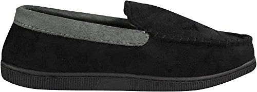 Microsuede For Black Grey Moccasin – Slippers – Plaid Men Twill or NORTY Extra Warm 4qXAwEn