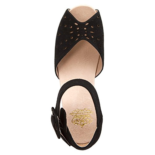 Crowne Comforteur Mujeres Countess Pumps Zapatos Negro Niño Gamuza
