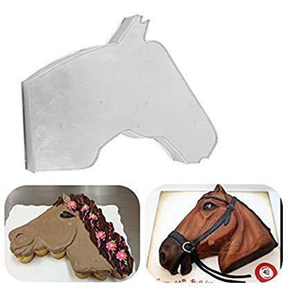 Horse Face Shape Birthday Wedding Anniversary Cake Tins/Pans/Mold (Mould) by Hufsy (Cake Pan Mold Horse)