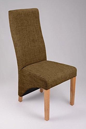 Indiana Eiche Möbel, dunkelbraun Tweed Stuhl (Paar)