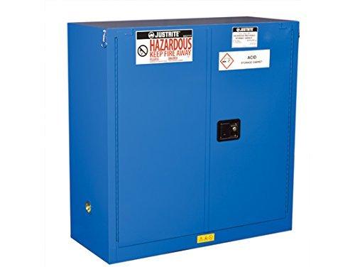 Blue Steel Safety Cabinets (Justrite 863028 Hazardous material Steel Safety Cabinet, 4 gal, Steel, Blue)