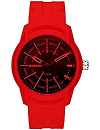 Men's Armbar Silicone Casual Watch, Color: Red (Model: DZ1820)