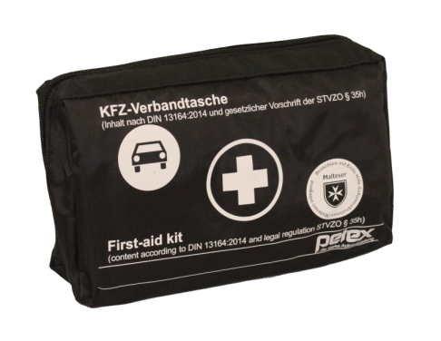 KFZ-Verbandtasche Schwarz DIN 13164-2014