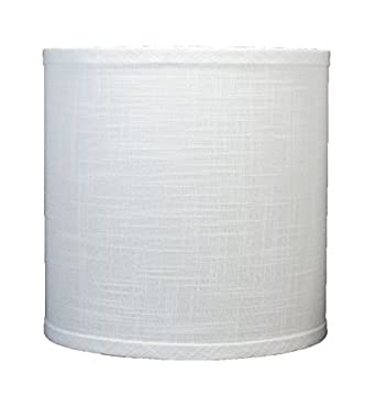 Urbanest Linen Drum Lamp Shade, 10-inch By 10-inch By 10-