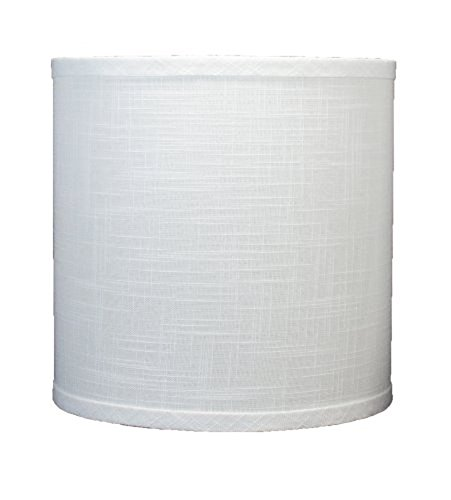 Urbanest Linen Drum Lamp Shade, 10-inch by 10-inch by 10-inch, Off White, Spider (Shades Drum Lamp)