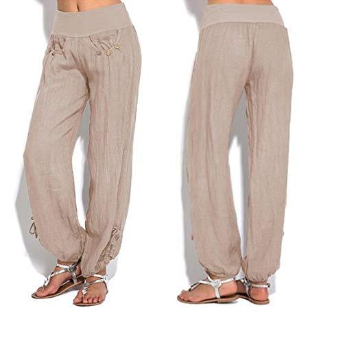 Yoga Pour Huateng Ihqir Décontracté Pantalon Femmes Kaki lcK135uTFJ