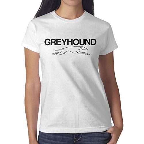 M.STRA Women Cotton White Short Sleeved Greyhound-Bus-Line- Tshirts