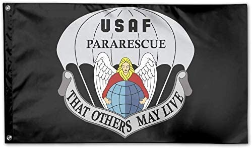 Jeewly USAF Pararescue Decorative Flag House Flag Yard Banner 3 X 5