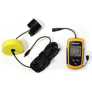 HermosaUKnight 100M Cable Ultrasónico Portátil Detector de Detectores de Peces Sonar LCD Caza de Pesca Echo
