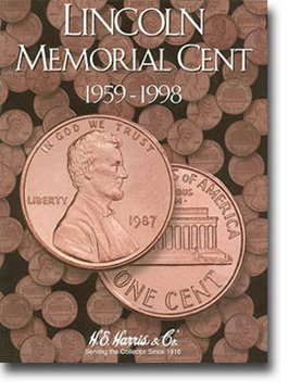 Harris Coin Folder – Lincoln Memorial Folder 1959-1998 – 8HRS2675