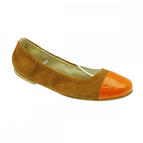 Kennel Und Schmenger Women's Slip On Flat Ballet Pump Orange Multi D1kDe8