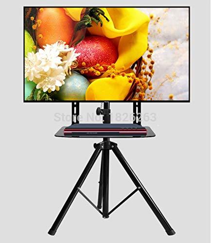 360度回転式 32~55インチ テレビマウント 三脚スタンド DVDホルダー付き VESA 100~400mm 耐荷重50kg 高さ調節可能 テレビフロアスタンド   B07K3TQR5M