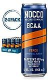 NOCCO BCAA Peach 24 x 12 Fl Oz Carbonated, ZERO