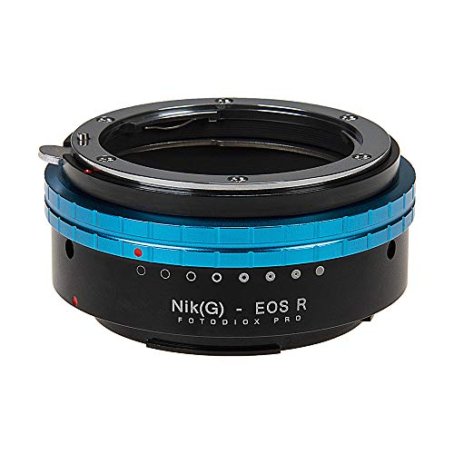 Fotodiox Pro Lens Mount Adapter Compatible with Nikon Nikkor F Mount G-Type D/SLR Lenses to Canon RF (EOS-R) Mount…