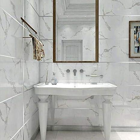 Sansund Ruban adh/ésif en c/éramique pour carrelage et bords anti-moisissure width0.75CM blanc