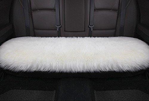 Sheepskin Window - Sisha Sheepskin Seat Cushion Cover Winter Warm Natural Wool Car Seat Covers Universal Fit for Most Car, Truck, Suv, or Van Back White