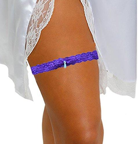 Eworld Wedding Garter Throw Purple product image