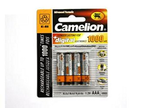 4 x Akku Batterie Camelion AAA 1000mAh für Festnetz Telefon Siemens Gigaset SX550i , S67H , SX810 ISDN , A220 , AS285 , A510 Duo , S810 ,455X , CX610 ISDN , S79H C300 , A285 , S810H , A420 , C100 , SX440 ISDN , SX810 A , E500A , SX445 ISDN , C150 , A600 , 450X , C385 Duo , C610H , C595 , C610 , C300A Duo , C59H , A400 , C590 , Panasonic KX-PRW110 , KX-TG8561 , KX-TG6522 , KX-PRS110 , KX-TG6721 , Telekom T-Sinus 502 Dect , A205 , 501i , 300i , 103 , A404 , CA34 , A503i , Philips CD2901 , SD4911 , AVM FritzFon C3