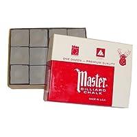 Original USA Gesso da Biliardo Master, 12 pezzi in una scatola (blu / verde / rosso / grigio)