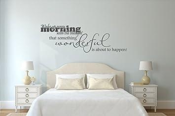 Wandtattoo Schlafzimmer Wake up every Morning Nr 3 Wanddeko ...