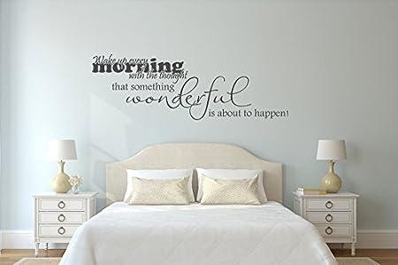 Dekoartikel schlafzimmer  Wandtattoo Schlafzimmer Wake up every Morning Nr 3 Wanddeko ...
