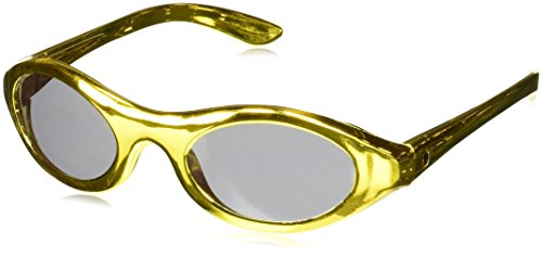 Amscan Glamorous 20's Old Hollywood Themed Party Metallic Oval Sunglasses (12 Piece), Gold/Silver, 12.5 x -