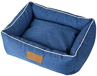 Sile ペットベッド、防水カチオン布屋内取り外し可能で洗えるペットソフトクッション快適な通気性のSL - 006 (色 : 青, サイズ さいず : L l)