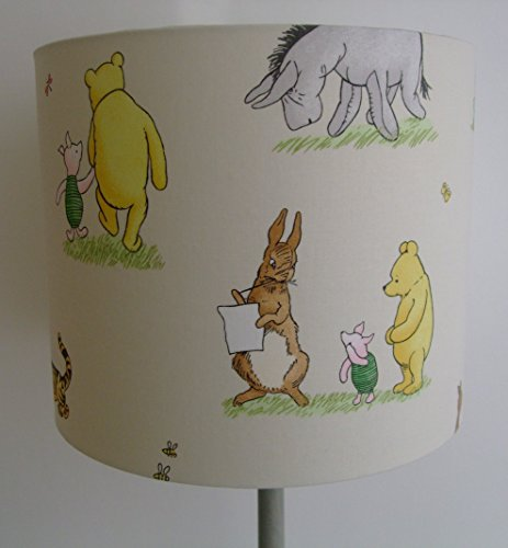 Disney vintage winnie the pooh and friends handmade nursery disney vintage winnie the pooh and friends handmade nursery ceiling lampshade 30cm drum aloadofball Images