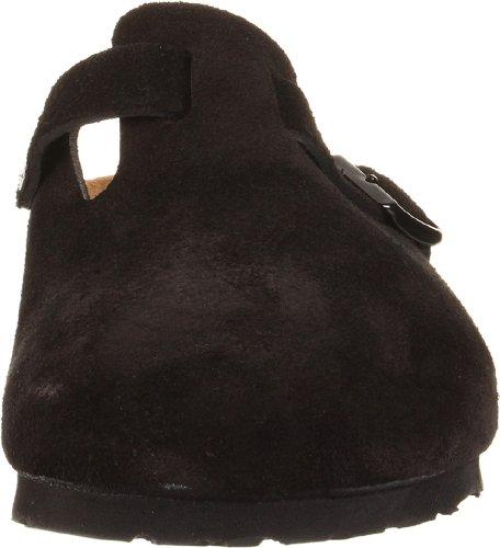 Birkenstock Unisex Boston Soft Footbed, Black Suede, 36 N EU by Birkenstock (Image #4)
