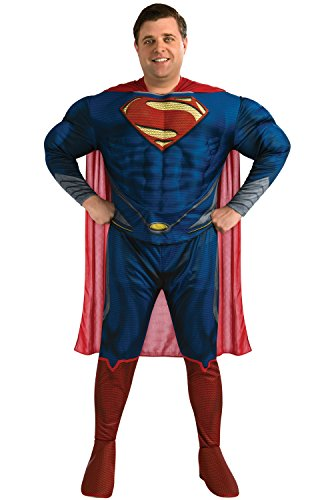 Plus Size Superman Costume (Rubie's Costume Plus-Size Man Of Steel Deluxe Adult Superman Costume, Blue/Red, Plus)