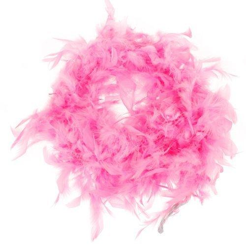 Snowwer Pink Feather Boa Fluffy Craft Decoration 6.6 Feet Long