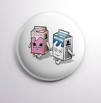 Blur Coffee and TV Milk Cartoon Badges Buttons Pins 1