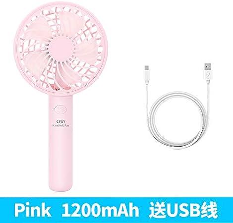 xinrongqu USB Mini Viaje Ventilador De Mano Exterior Rosa Cereza