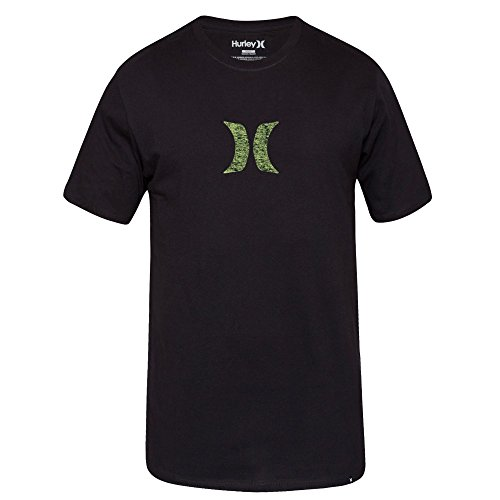 Hurley Mens Icon Push Through Premium T-Shirt MTS0022480,Black A,L