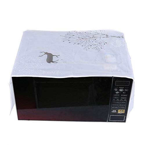 Dust Proof Microwave Cover, Toaster Oven Cover Microwave Dust Proof Cover Microwave Oven Hood Heavy Duty Waterproof Toaster Cover Dust-Proof Protector
