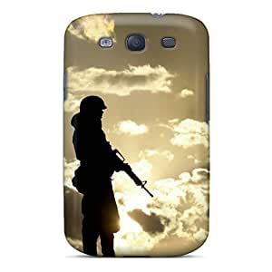 Fashionable ANxqBrFor SamSung Note 2 Case Cover 104HFgpm For SamSung Note 2 Case Cover For Soldier In Sunset Protective
