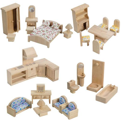 PlanToys Classic Doll House Furniture Set