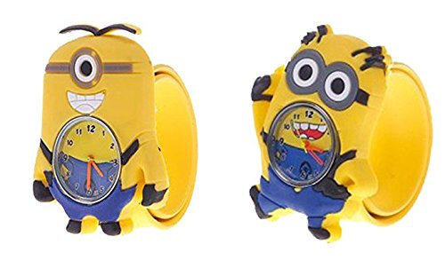 Kids Watch - Despicable Me, Minion, Slap Watch, Girls, Boys Educational -Time Teacher (Agnes Costume Toddler)