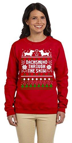 Dentz Design Chest Hearts Slouchy Sweatshirt