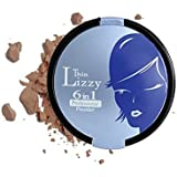 Thin Lizzy 6 in 1 Professional Powder Set - 6 Different Make-up Must Haves Combined Into One Single Compact (DARK)