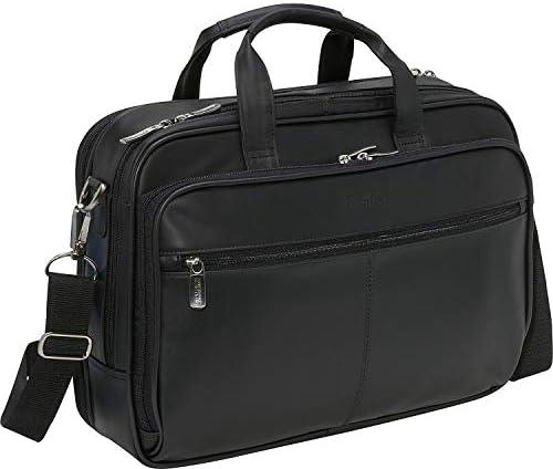 Kenneth Cole Reaction Genuine Leather Dual Compartment 15.4 Laptop Portfolio, Black