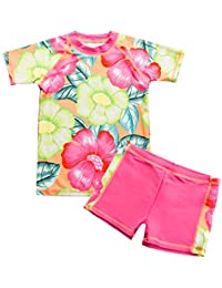 Vivafun Toddler Girls Swimsuit Two-Piece Rash Guard Set UV Protective