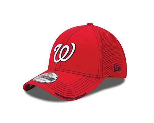 MLB Washington Nationals Neo Fitted Baseball Cap, Scarlet, Medium/Large