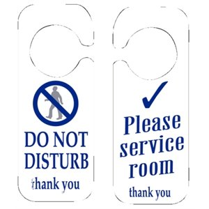 10 x no molestar y por favor servicio de habitaciones Sign ...