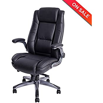 Amazoncom Genesis Large Executive Office Chair Sleek Neutral