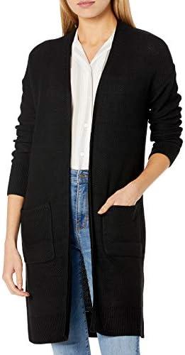 Amazon Brand – Goodthreads Women's Everyday Soft Blend Honeycomb Long Line Cardigan Sweater